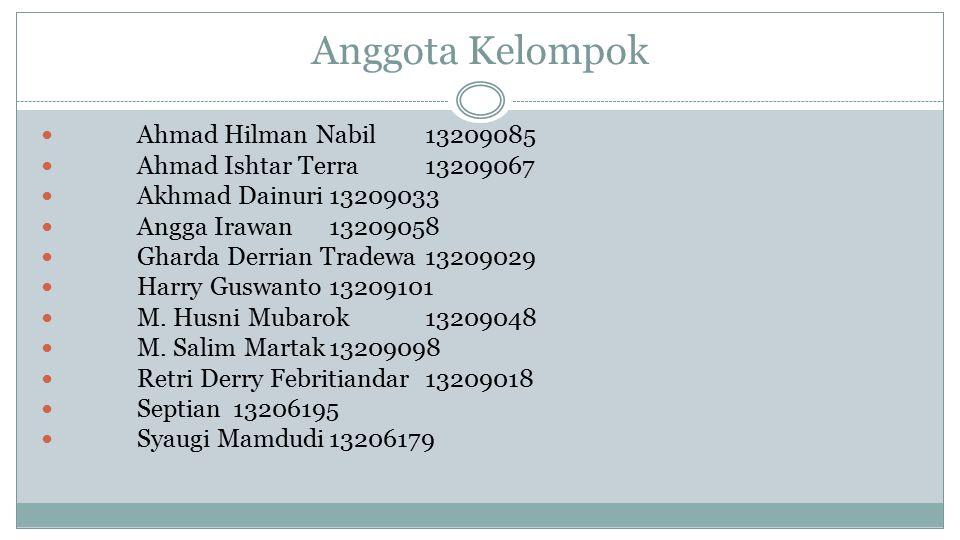 Anggota Kelompok Ahmad Hilman Nabil 13209085
