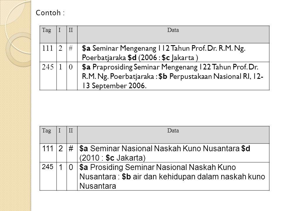 $a Seminar Mengenang 112 Tahun Prof. Dr. R.M. Ng.