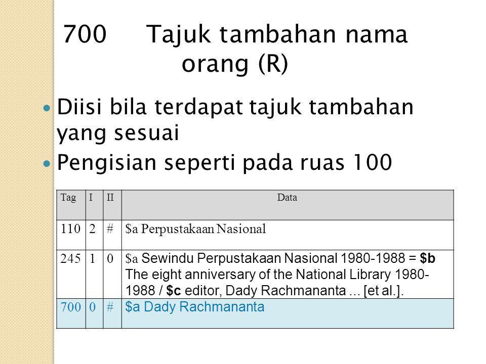 700 Tajuk tambahan nama orang (R)