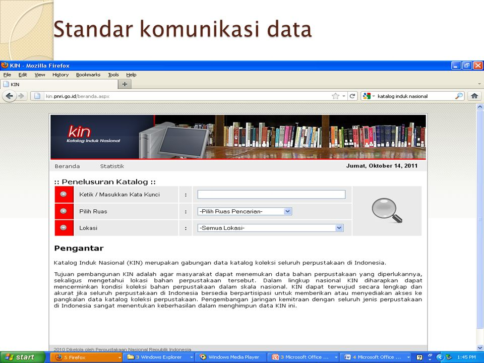 Standar komunikasi data