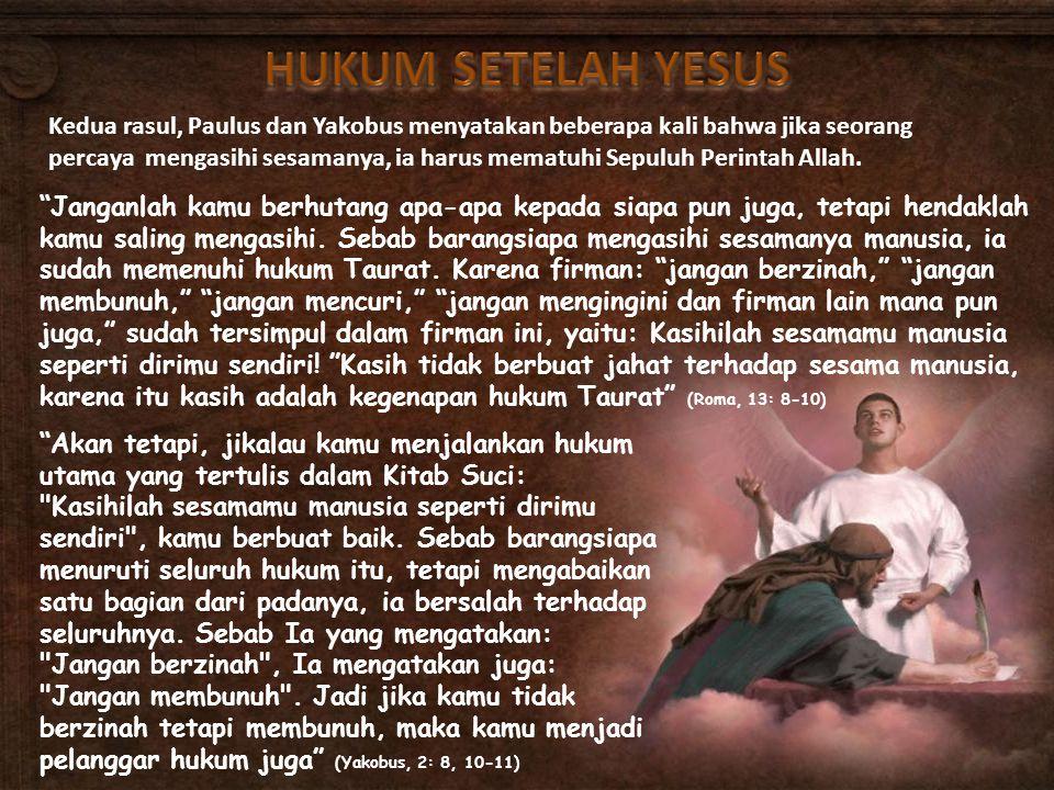 HUKUM SETELAH YESUS