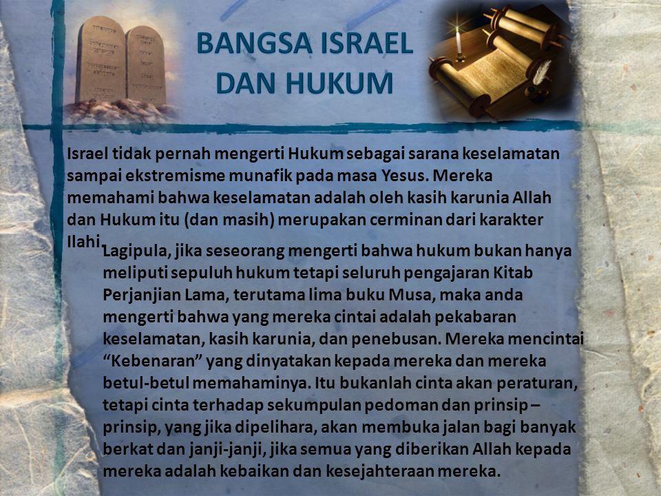 BANGSA ISRAEL DAN HUKUM