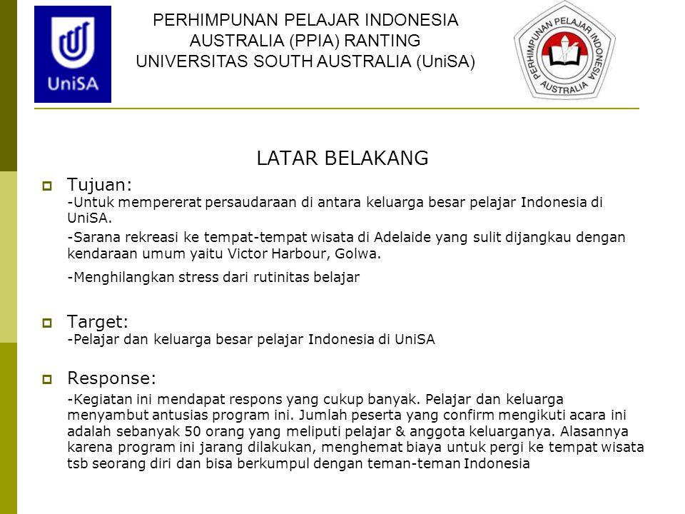 LATAR BELAKANG PERHIMPUNAN PELAJAR INDONESIA AUSTRALIA (PPIA) RANTING