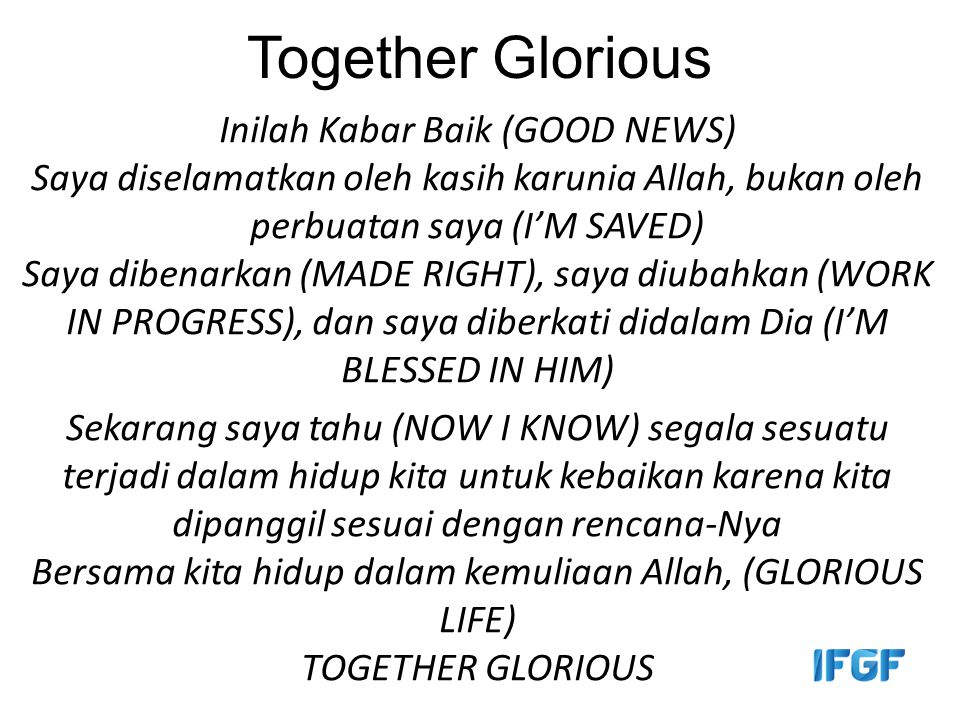 Together Glorious