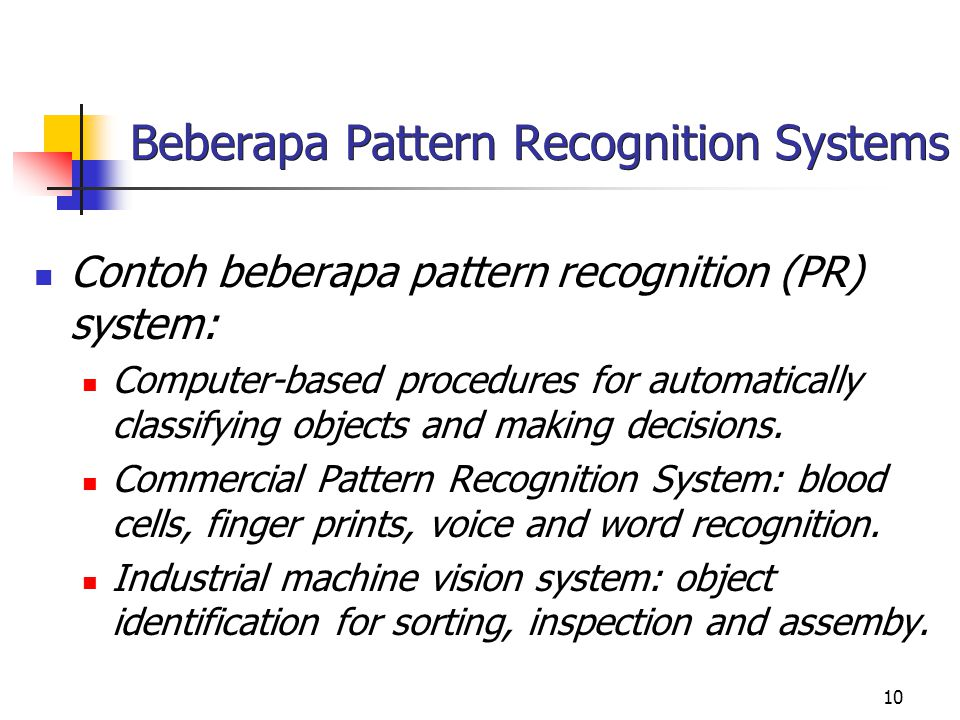 Beberapa Pattern Recognition Systems