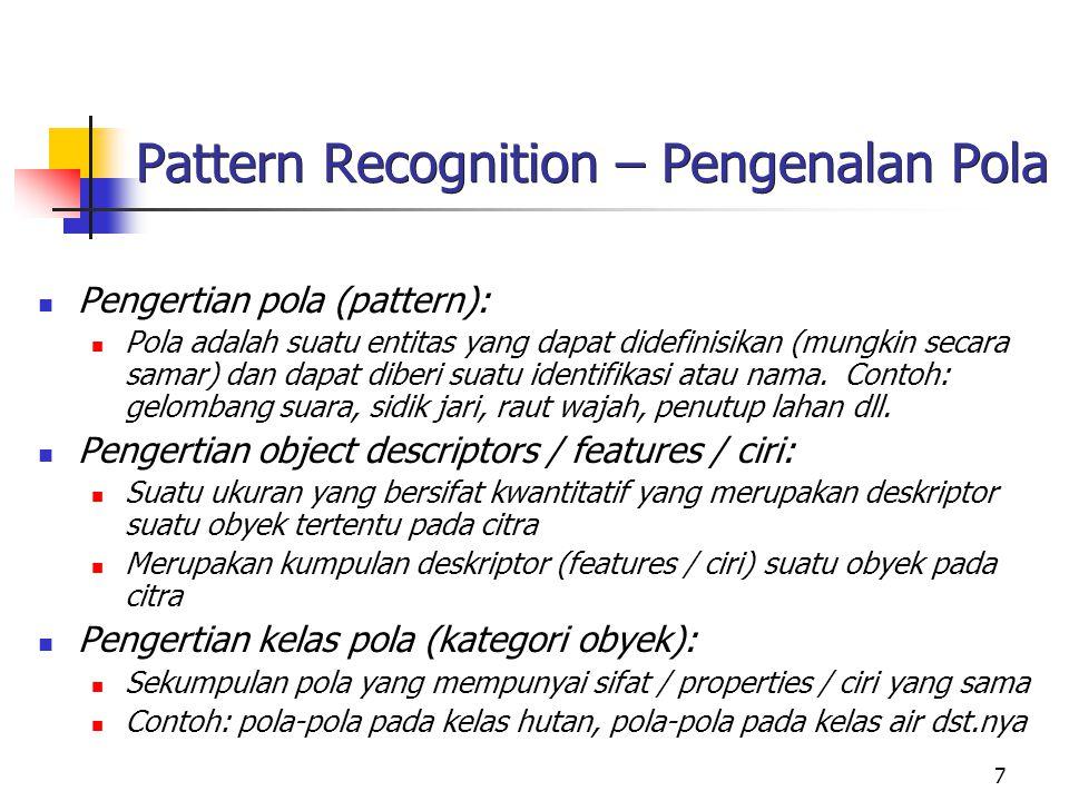 Pattern Recognition – Pengenalan Pola