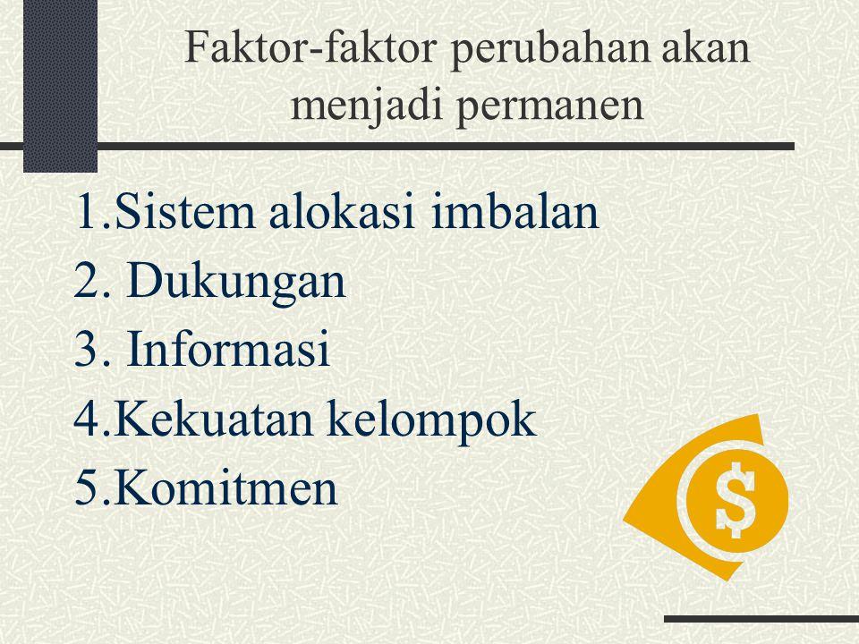 Faktor-faktor perubahan akan menjadi permanen