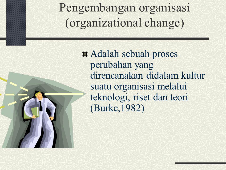 Pengembangan organisasi (organizational change)
