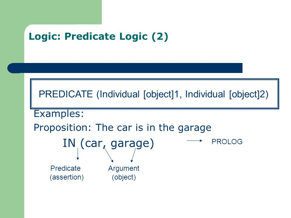 Logic: Predicate Logic (2)