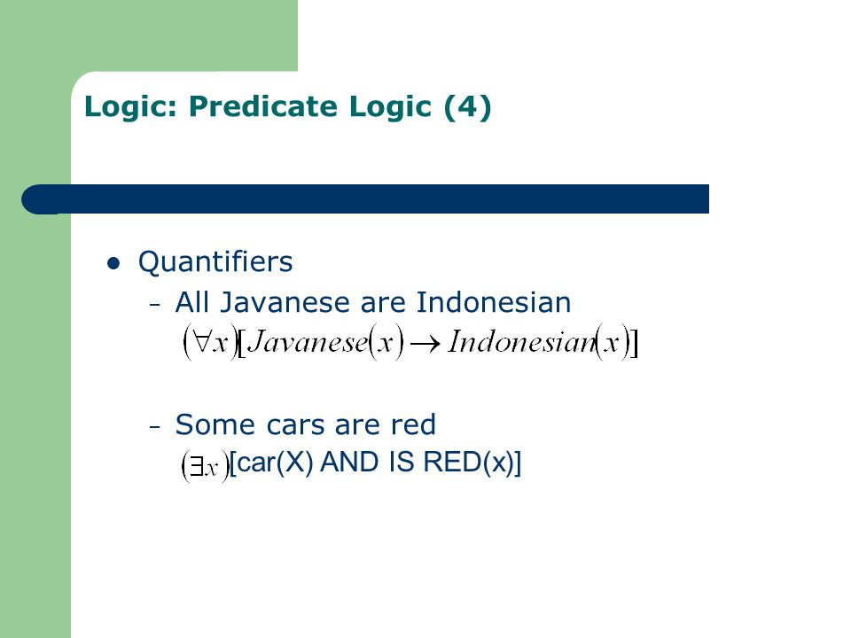 Logic: Predicate Logic (4)