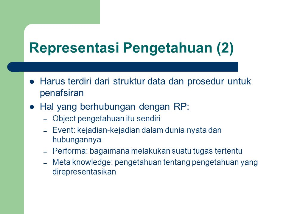 Representasi Pengetahuan (2)