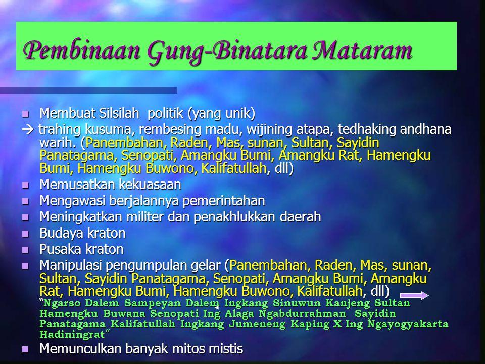 Pembinaan Gung-Binatara Mataram