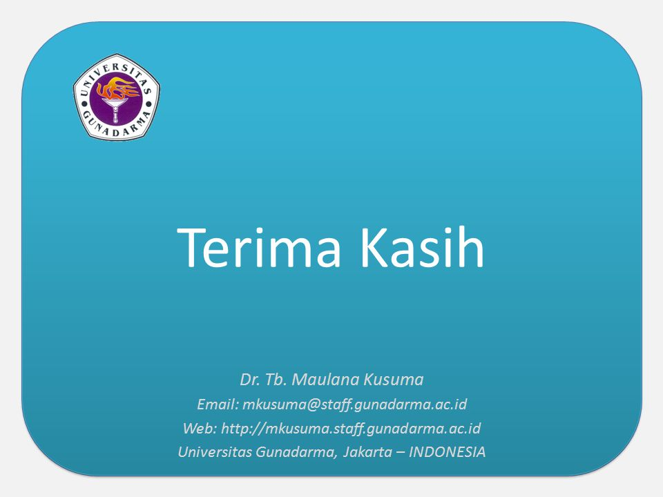Terima Kasih Dr. Tb. Maulana Kusuma