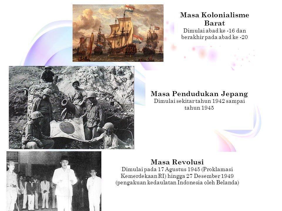 Masa Kolonialisme Barat Masa Pendudukan Jepang