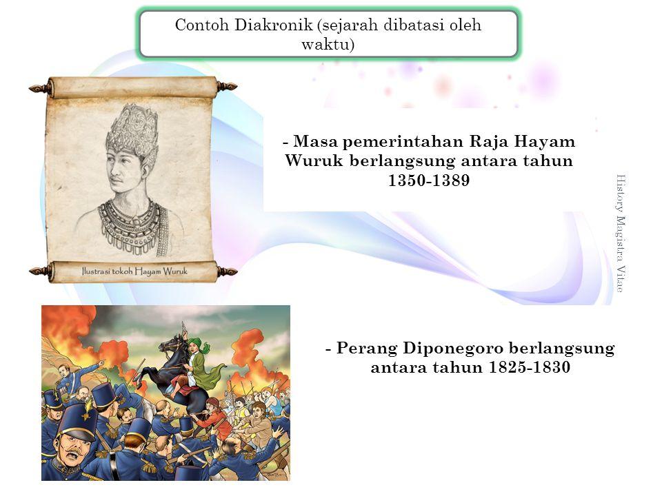 - Perang Diponegoro berlangsung antara tahun 1825-1830