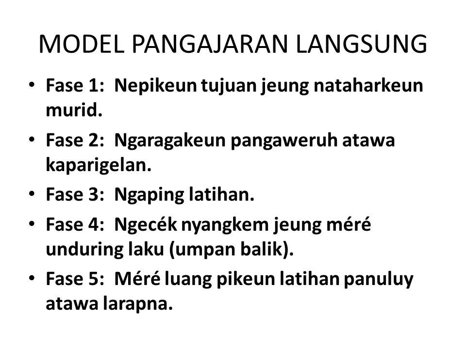 MODEL PANGAJARAN LANGSUNG