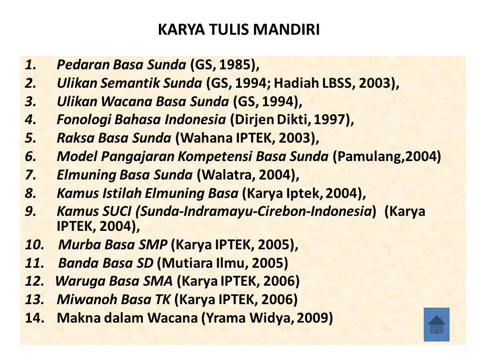KARYA TULIS MANDIRI Pedaran Basa Sunda (GS, 1985),