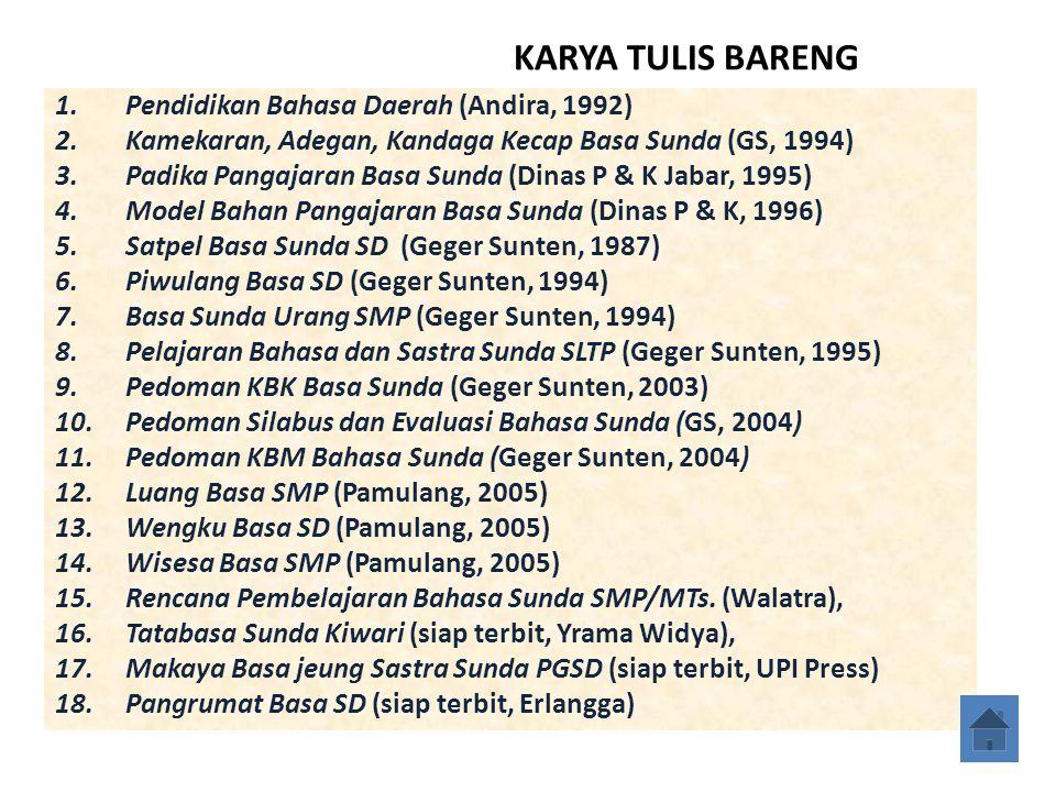 KARYA TULIS BARENG Pendidikan Bahasa Daerah (Andira, 1992)