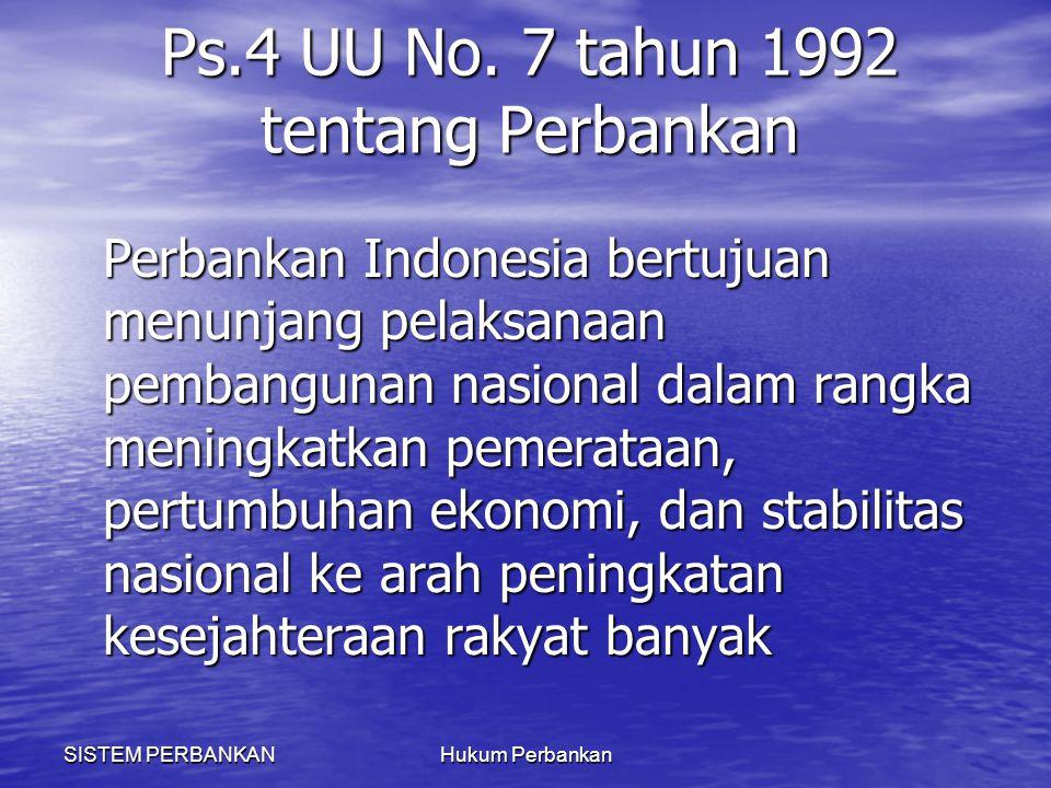 Ps.4 UU No. 7 tahun 1992 tentang Perbankan