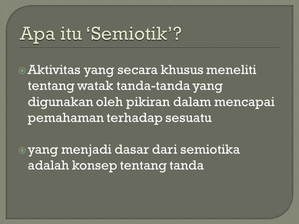 Apa itu 'Semiotik'