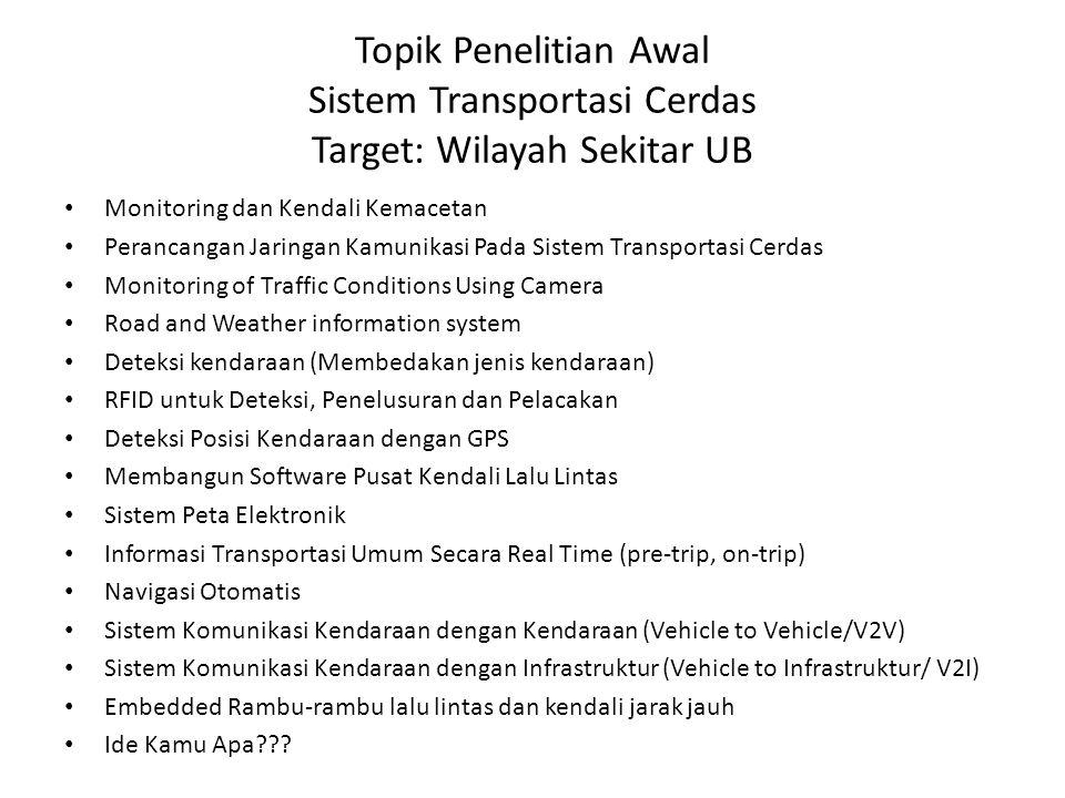 Topik Penelitian Awal Sistem Transportasi Cerdas Target: Wilayah Sekitar UB