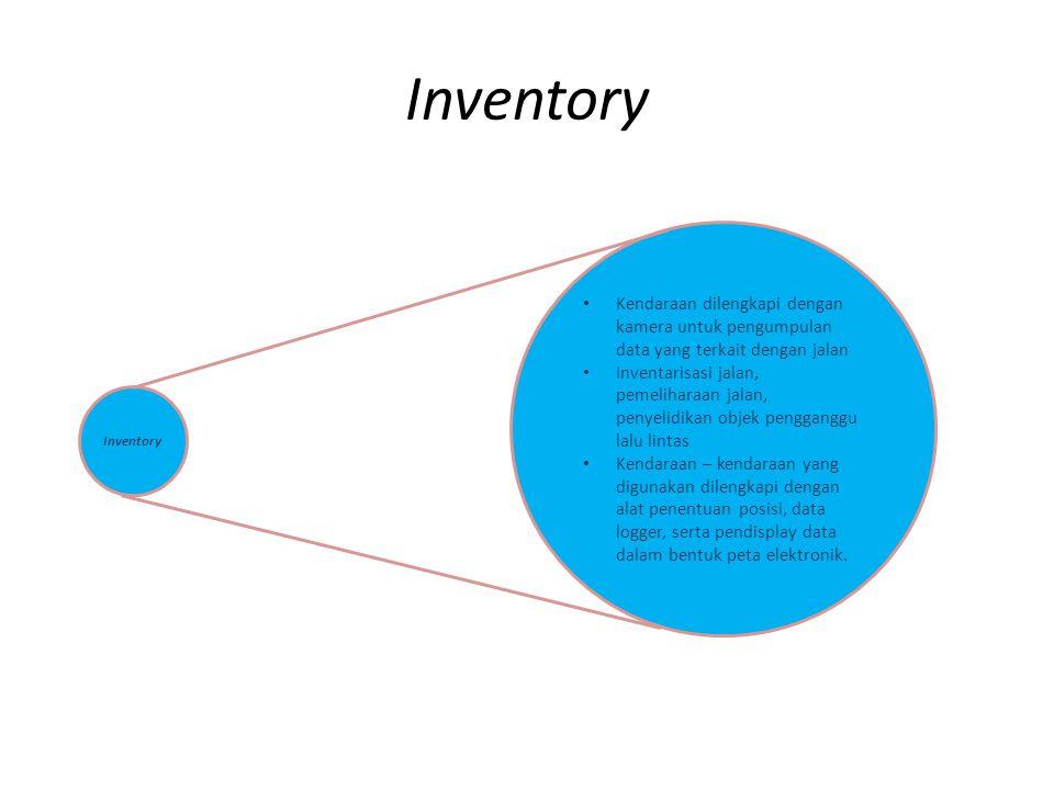 Inventory Kendaraan dilengkapi dengan kamera untuk pengumpulan data yang terkait dengan jalan.
