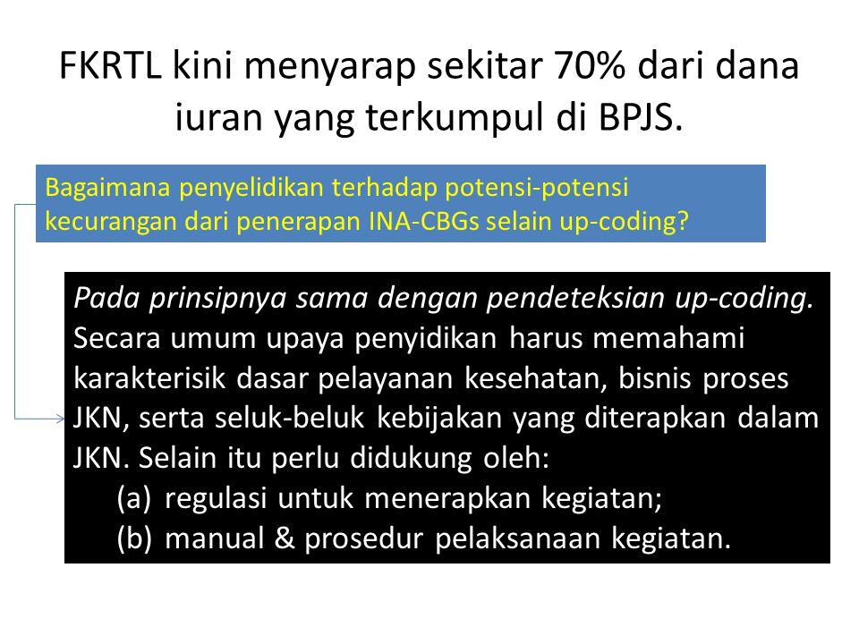 FKRTL kini menyarap sekitar 70% dari dana iuran yang terkumpul di BPJS.
