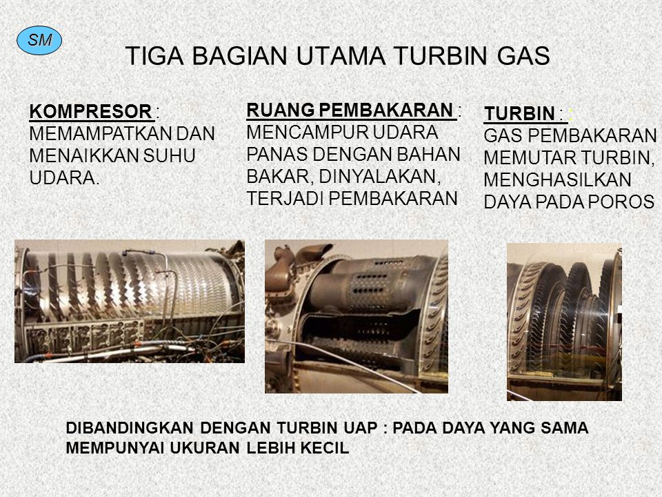 TIGA BAGIAN UTAMA TURBIN GAS