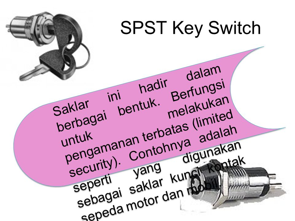 SPST Key Switch