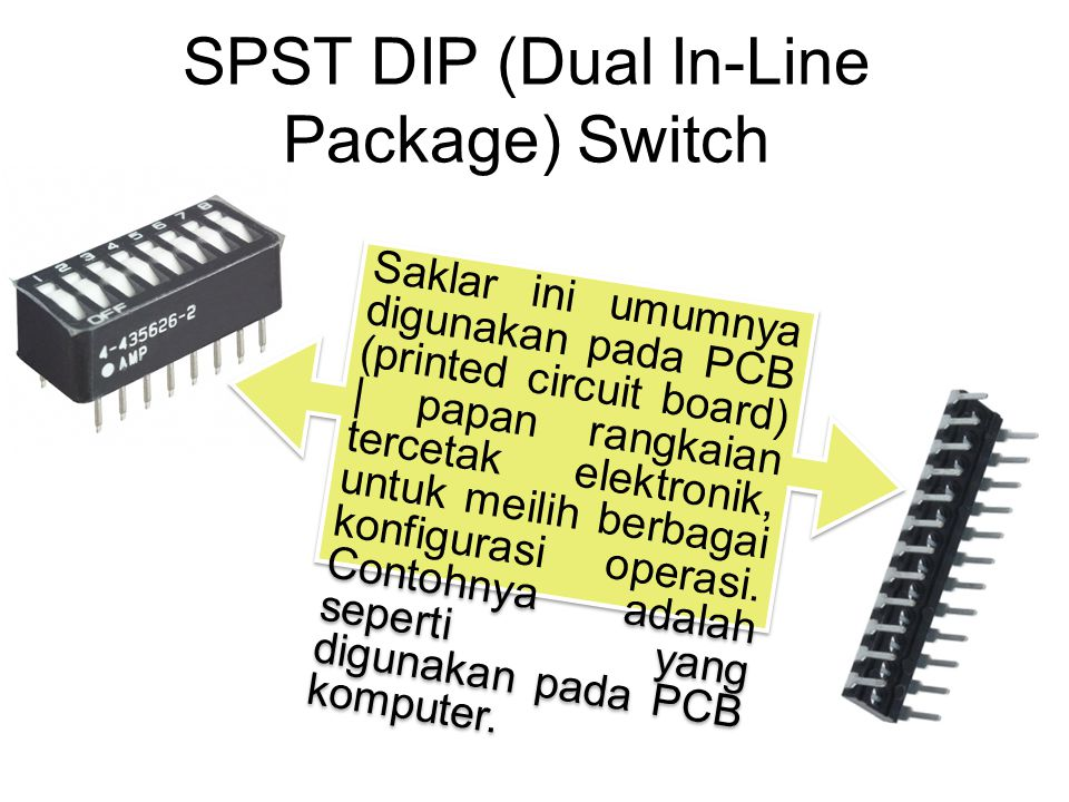 SPST DIP (Dual In-Line Package) Switch