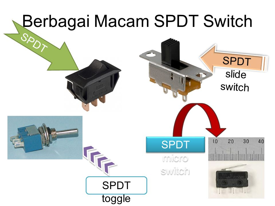 Berbagai Macam SPDT Switch