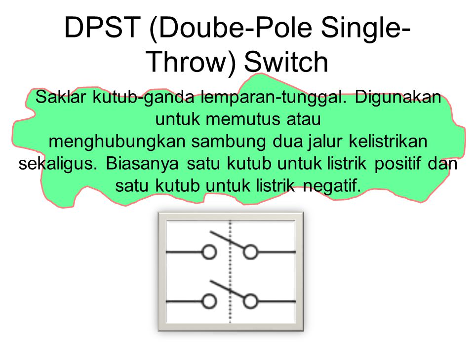 DPST (Doube-Pole Single-Throw) Switch