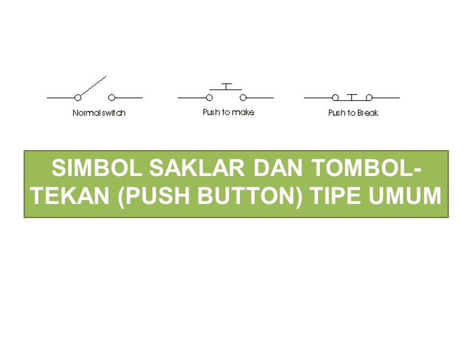 SIMBOL SAKLAR DAN TOMBOL-TEKAN (PUSH BUTTON) TIPE UMUM