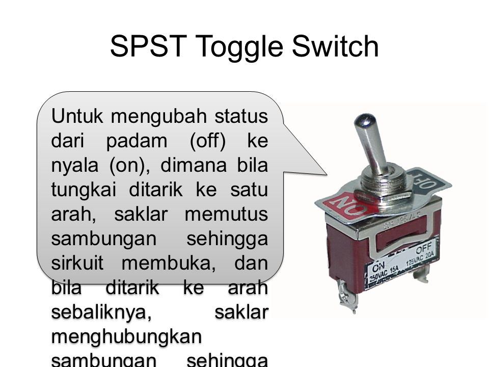 SPST Toggle Switch