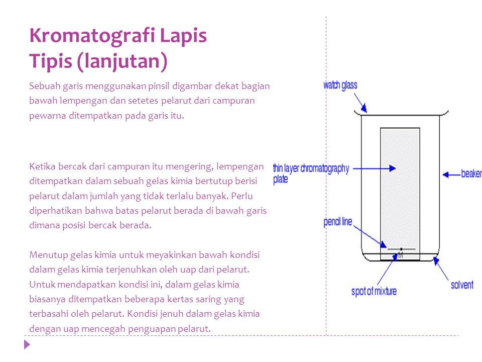 Kromatografi Lapis Tipis (lanjutan)