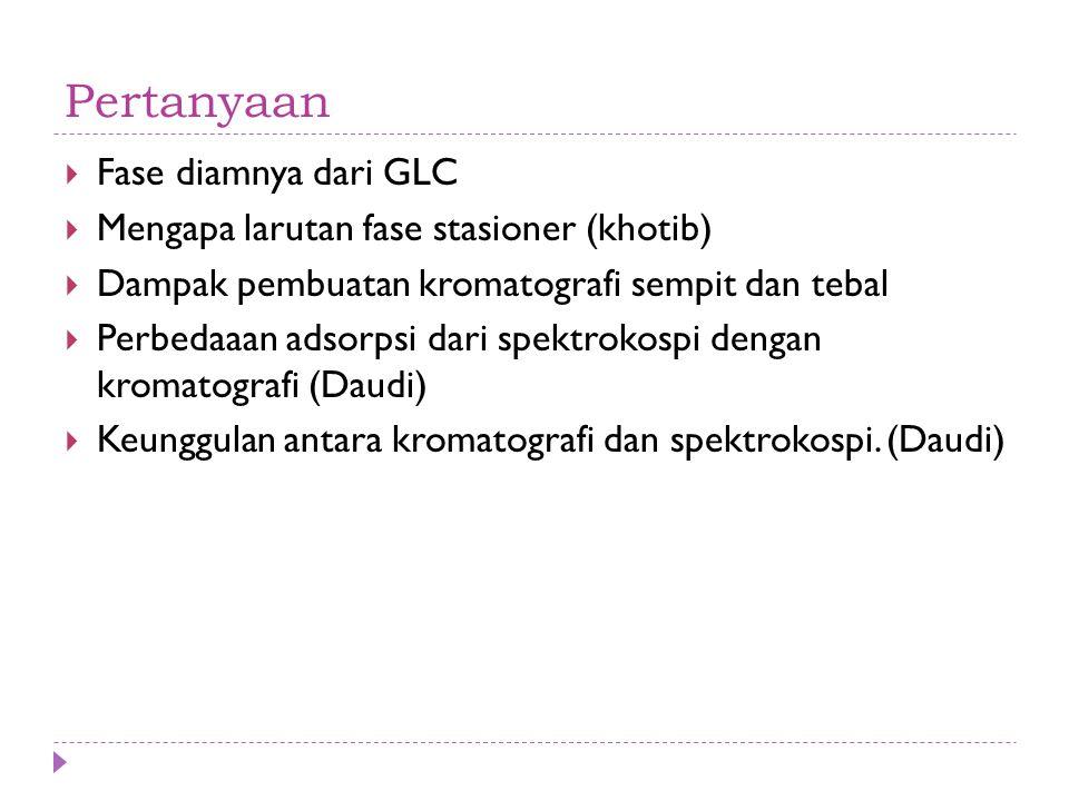 Pertanyaan Fase diamnya dari GLC