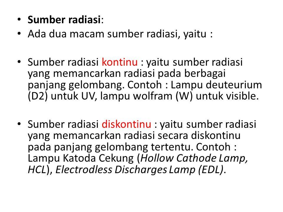Sumber radiasi: Ada dua macam sumber radiasi, yaitu :