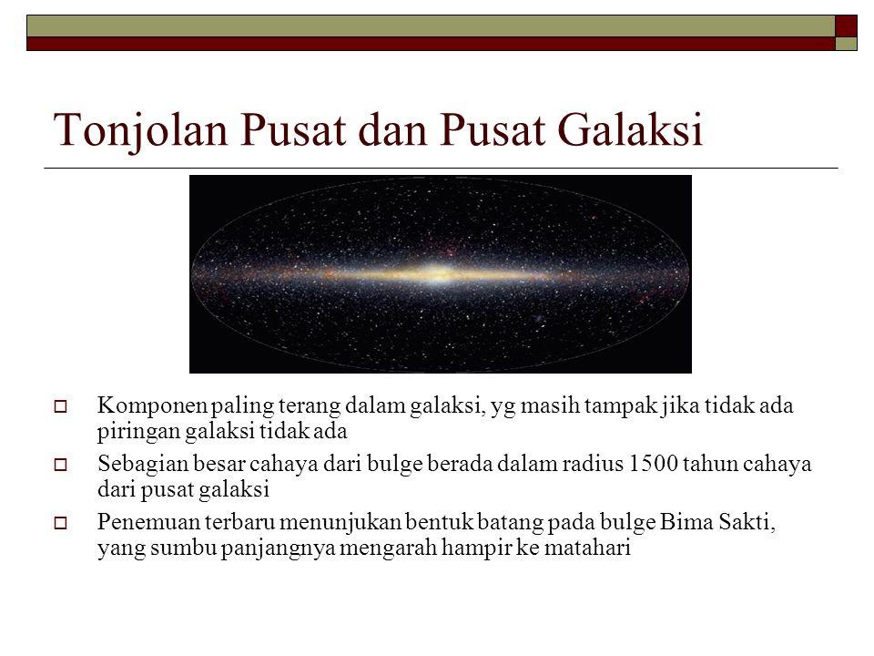 Tonjolan Pusat dan Pusat Galaksi