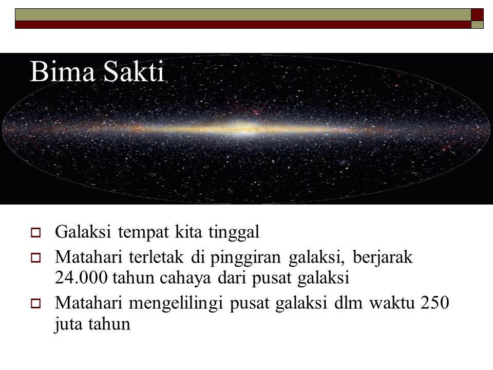 Bima Sakti Galaksi tempat kita tinggal