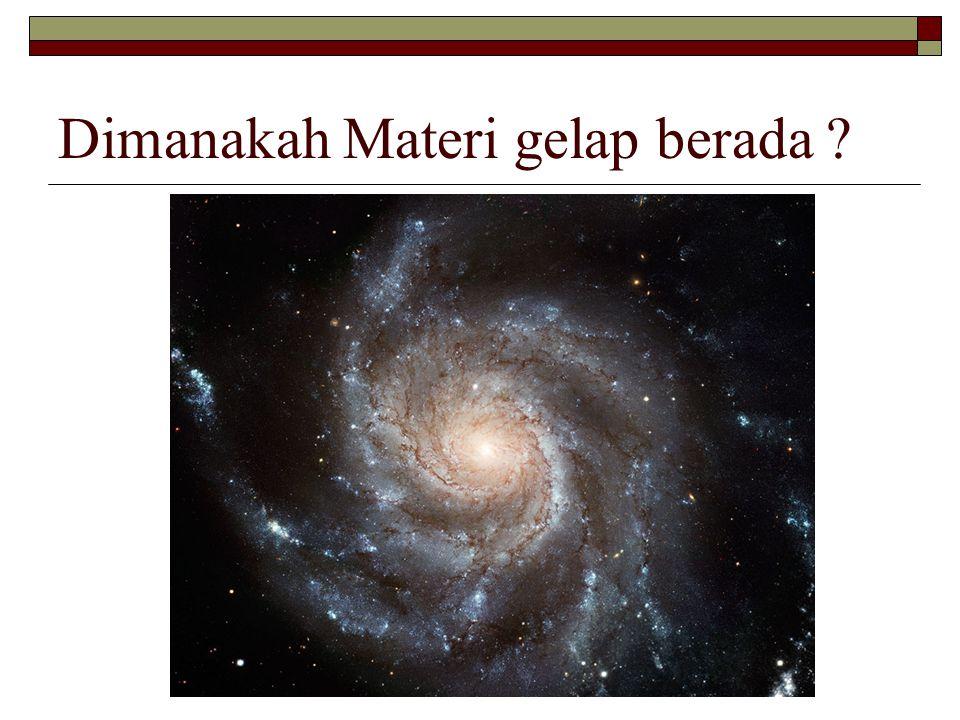 Dimanakah Materi gelap berada
