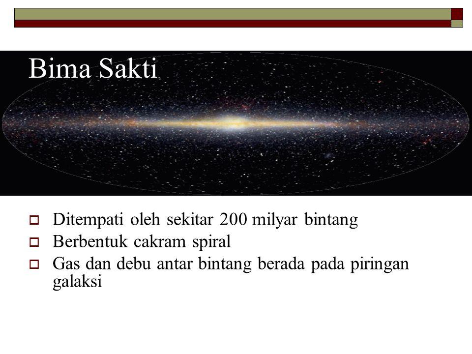 Bima Sakti Ditempati oleh sekitar 200 milyar bintang