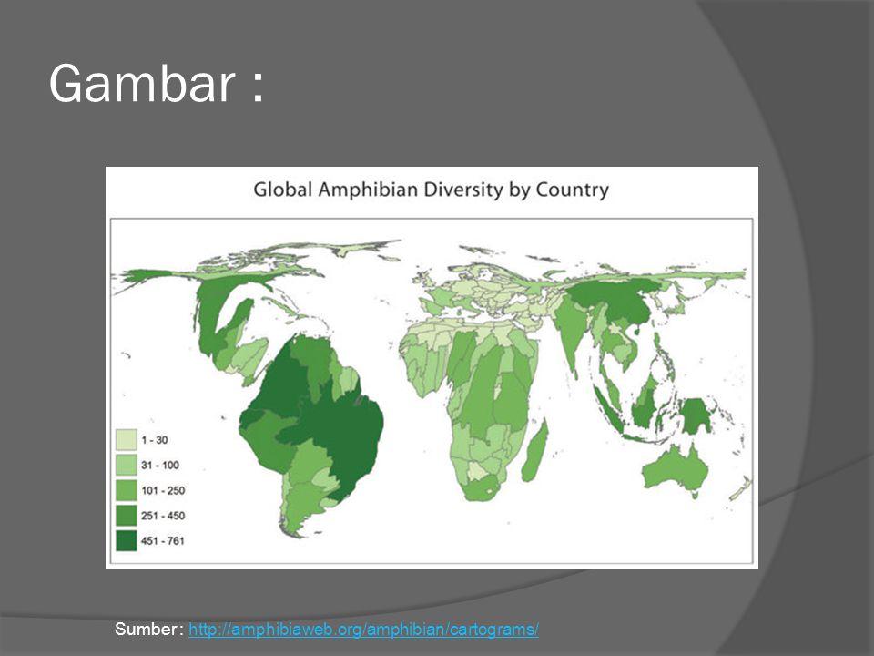 Gambar : Sumber : http://amphibiaweb.org/amphibian/cartograms/