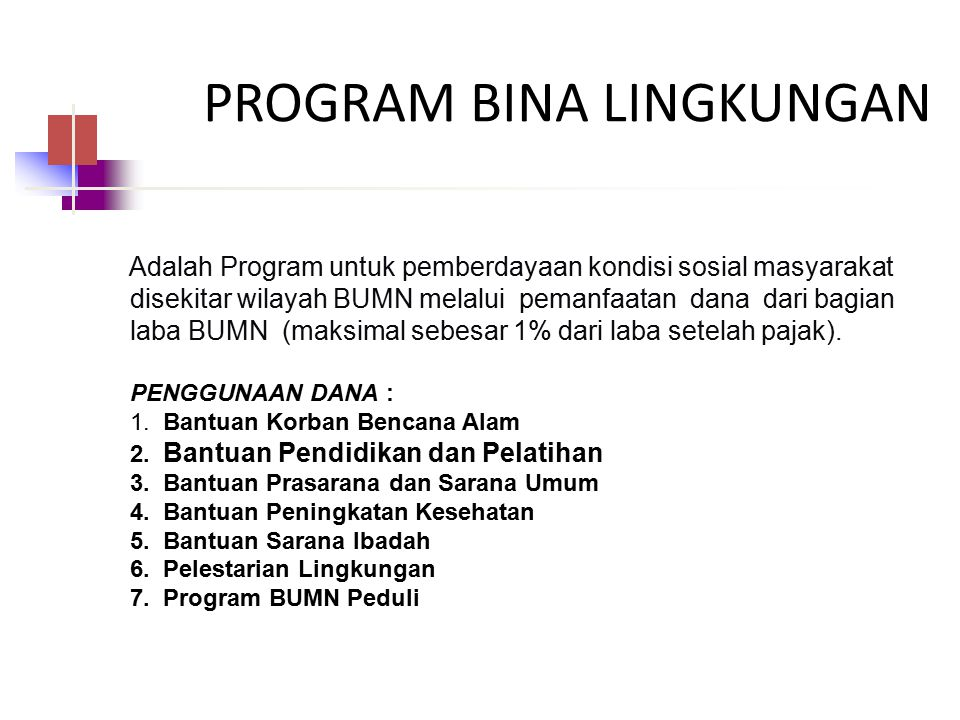 PROGRAM BINA LINGKUNGAN