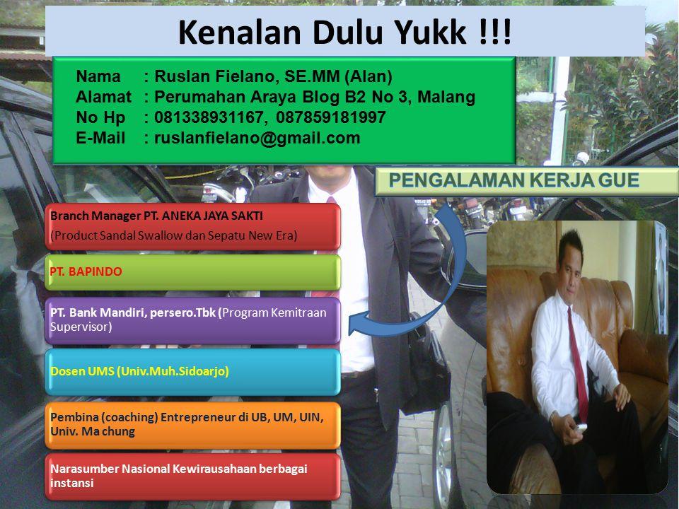 Kenalan Dulu Yukk !!! PENGALAMAN KERJA GUE