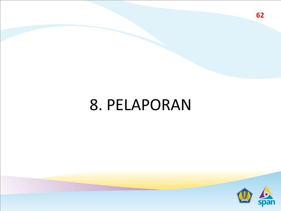8. PELAPORAN