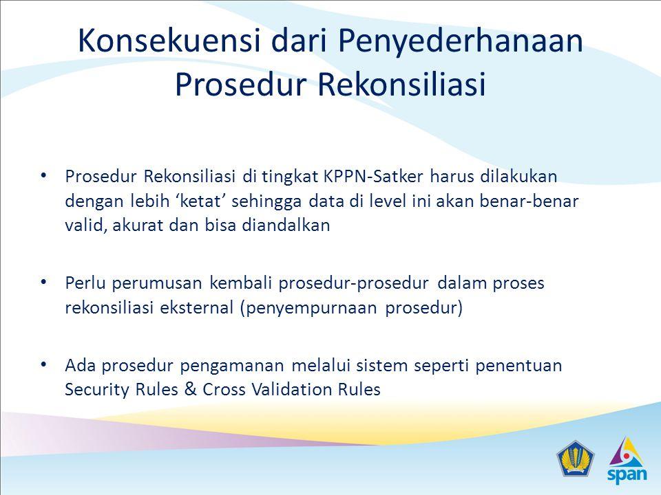 Konsekuensi dari Penyederhanaan Prosedur Rekonsiliasi