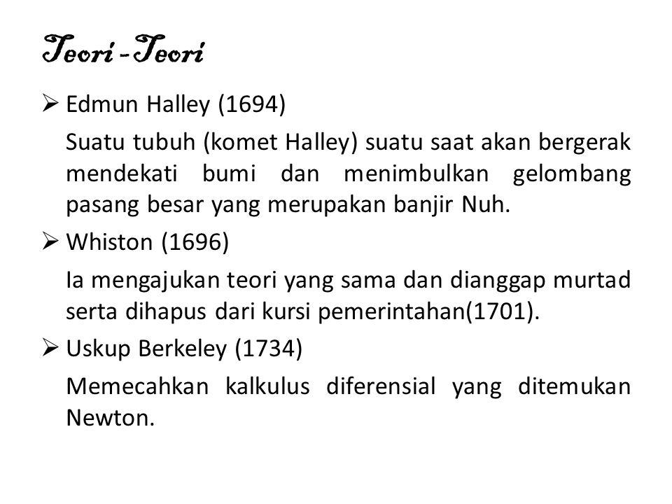 Teori -Teori Edmun Halley (1694)