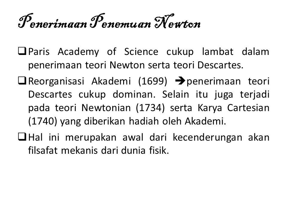 Penerimaan Penemuan Newton