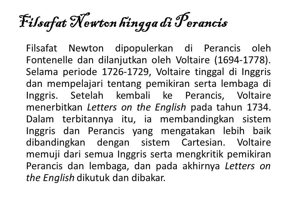 Filsafat Newton hingga di Perancis