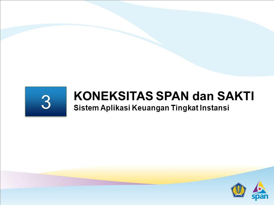 3 KONEKSITAS SPAN dan SAKTI Sistem Aplikasi Keuangan Tingkat Instansi